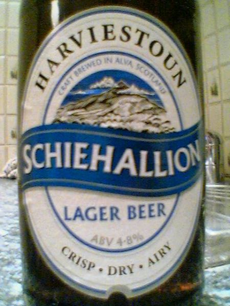 Harviestoun Schiehallion Lager Beer front label