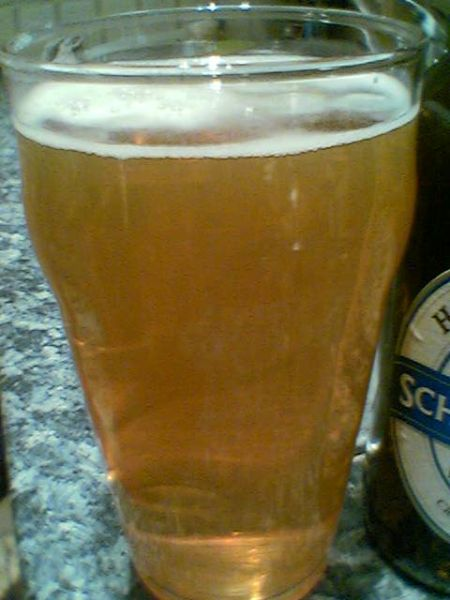 Harviestoun Schiehallion Lager Beer in a glass