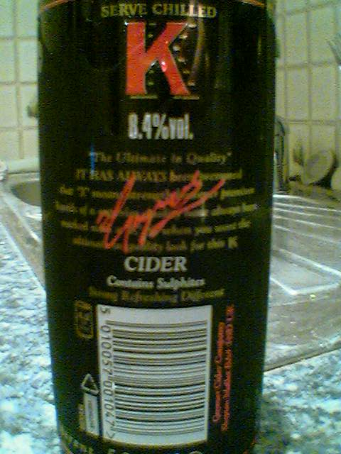 Beer Review K Gaymer Cider Hywel S Big Log