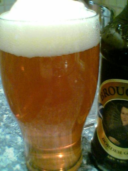 Broughton Border Gold in a glass