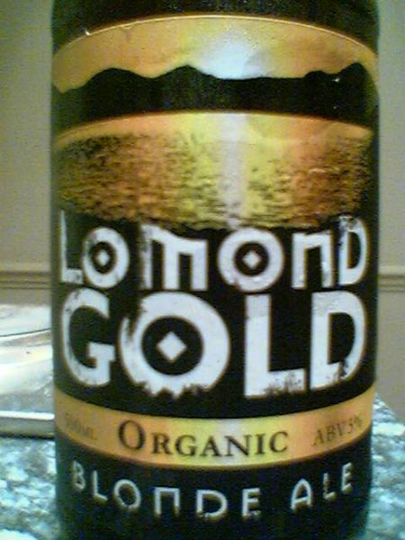 Traditional Scottish Ales' Lomond Gold Organic Blonde Ale front label