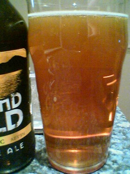 Traditional Scottish Ales' Lomond Gold Organic Blonde Ale in a glass
