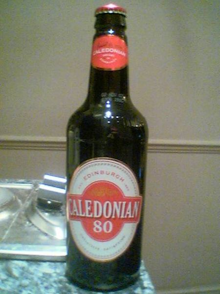 Caledonian 80/- bottle