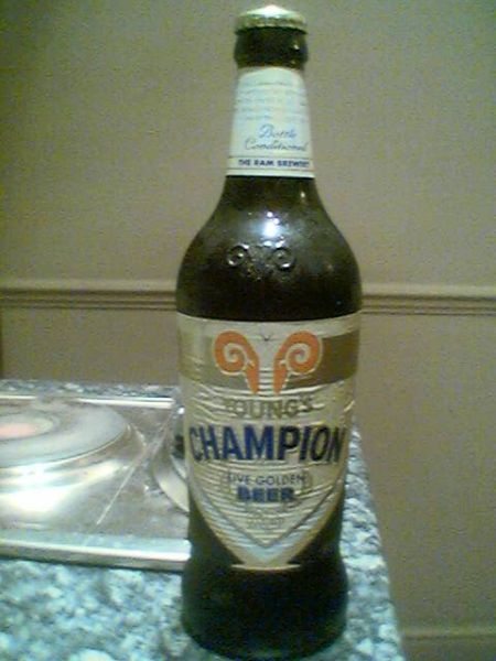Young\'s Champion Live Golden Beer bottle