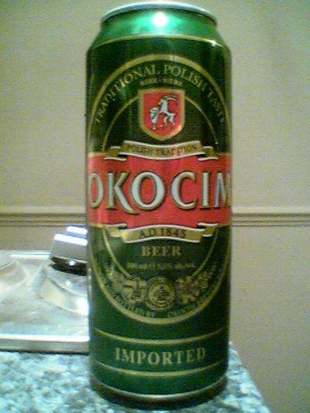Okocim can