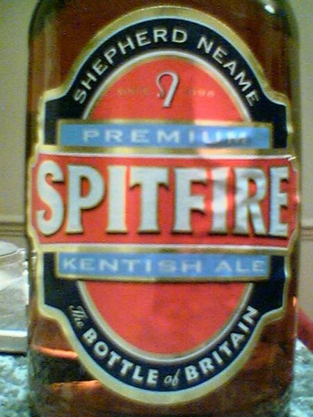 Shepherd Neame Spitfire Premium Kentish Ale front label