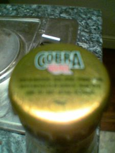 Cobra Extra Smooth Premium Lager Beer bottle top