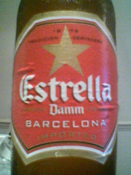 Damm Estrella front label
