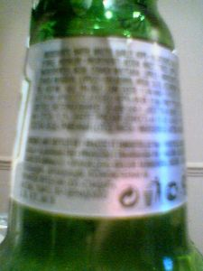 Grolsch right neck label swingtop