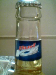 Bud Ice neck label