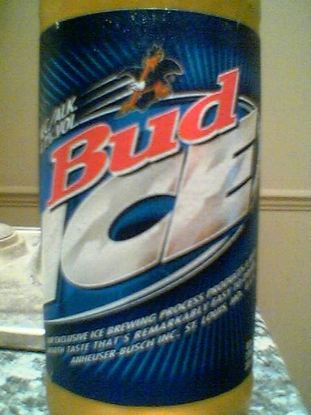 Bud Ice front label