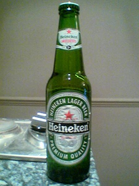 Heineken Imported Lager Beer bottle