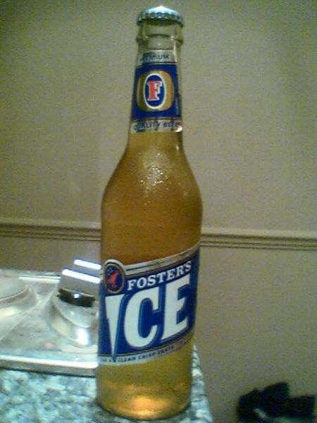 Fosters Ice bottle