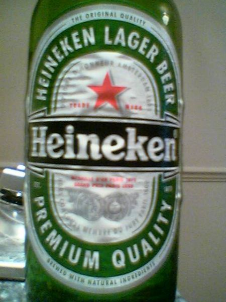 Heineken Imported Lager Beer front label