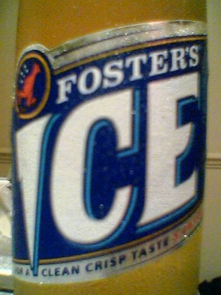 Foster's Ice front label