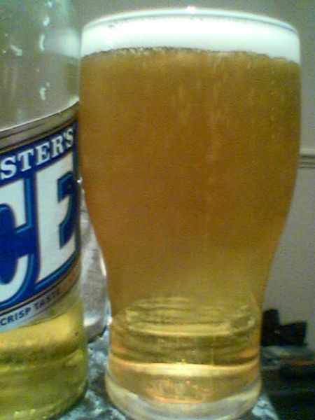 Fosters Ice poured into a glass