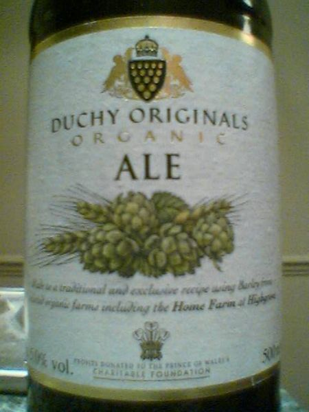 Duchy Originals Organic Ale front label
