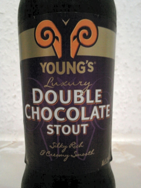 Young's Double Chocolate Stout front label