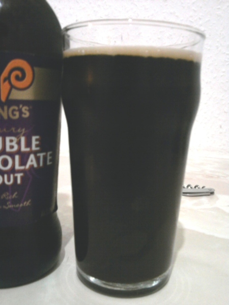 Young's Double Chocolate Stout poured into a glass