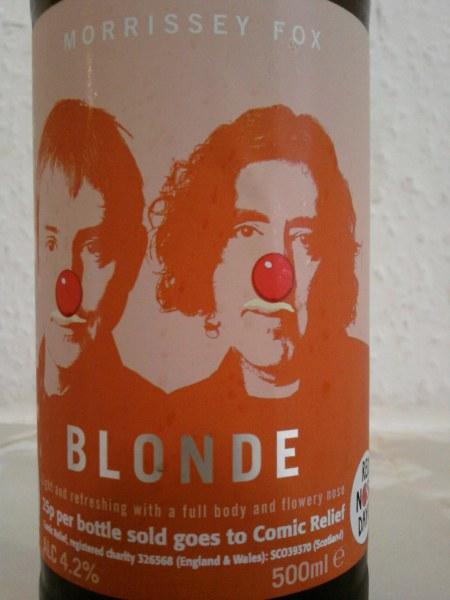 Morrissey Fox Blonde front label