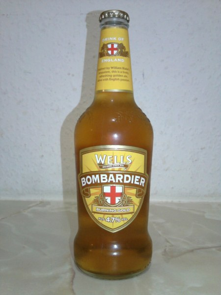 Wells Bombardier Burning Gold bottle