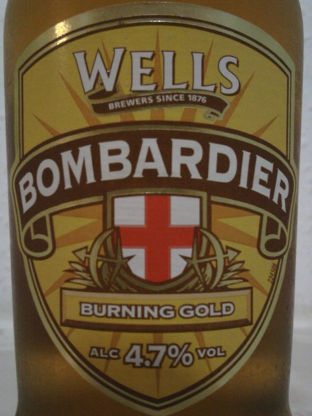 Wells Bombardier Burning Gold front label