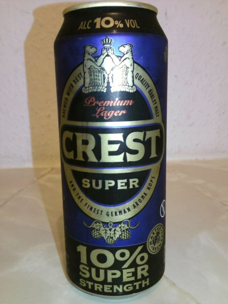 Crest Super front of can