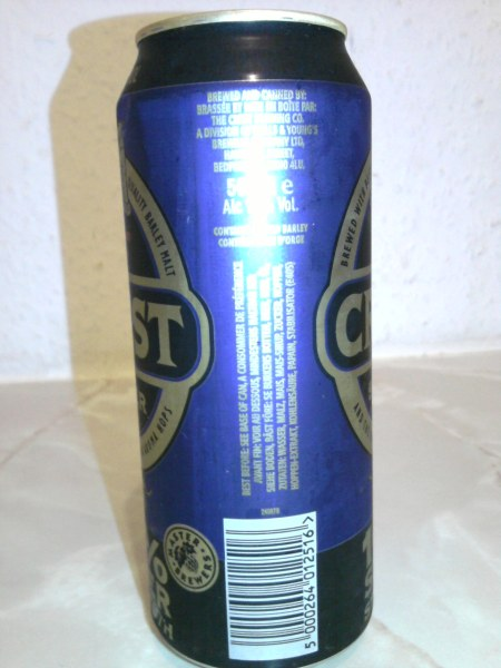 Crest Super barcode side of can