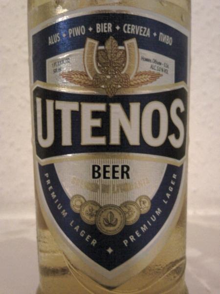 Utenos Beer/Alus front label