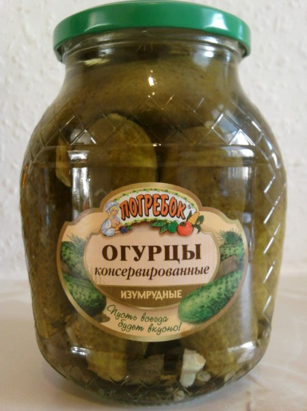 Monolith Isumrudnye Pickled Gherkins jar