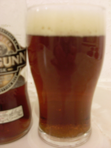 Innis & Gunn Rum Cask poured into a glass (out of focus, sorry)